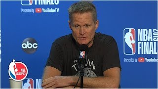 Download Steve Kerr addresses handling of Kevin Durant injury situation | 2019 NBA Finals Mp3 and Videos