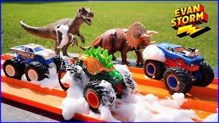 Monster Truck Monday: Spin Master Monster Jam VS Hot Wheels Giant Wheels Backyard Challenge