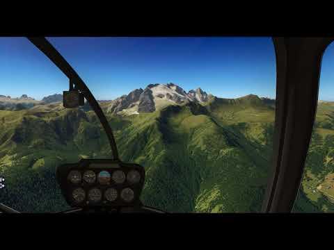 Robinson R66 (Alabeo) – Cortina – Bolzano – X-Plane 11.11
