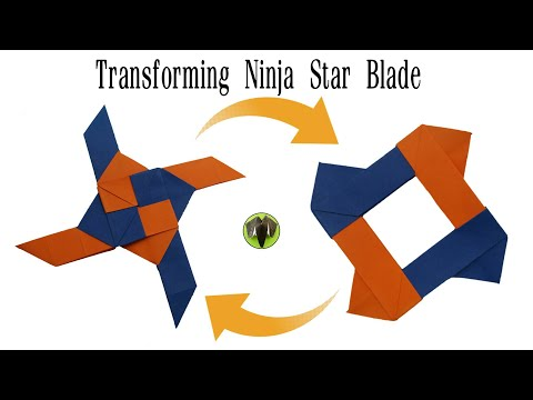 Transforming Ninja Star Blade Shuriken - Origami | DIY | How to make | Tutorial | Paper Folds - 794