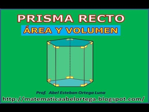 rea y volumen de un prisma recto youtube. Black Bedroom Furniture Sets. Home Design Ideas
