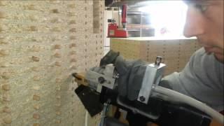 Enchassement de tourillons par pistolet