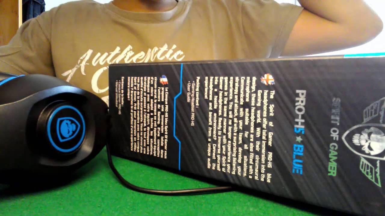 Casque Pro H5 De Side Of Gamer Deballage Et Test