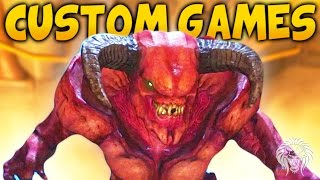 DOOM MULTIPLAYER GAMEPLAY! Snapmap Minigames – Basketball, Super Speed & Demon Bosses
