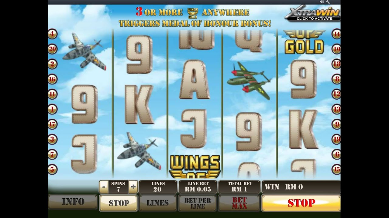 Play Wings of Gold Slot at Casino.com UK