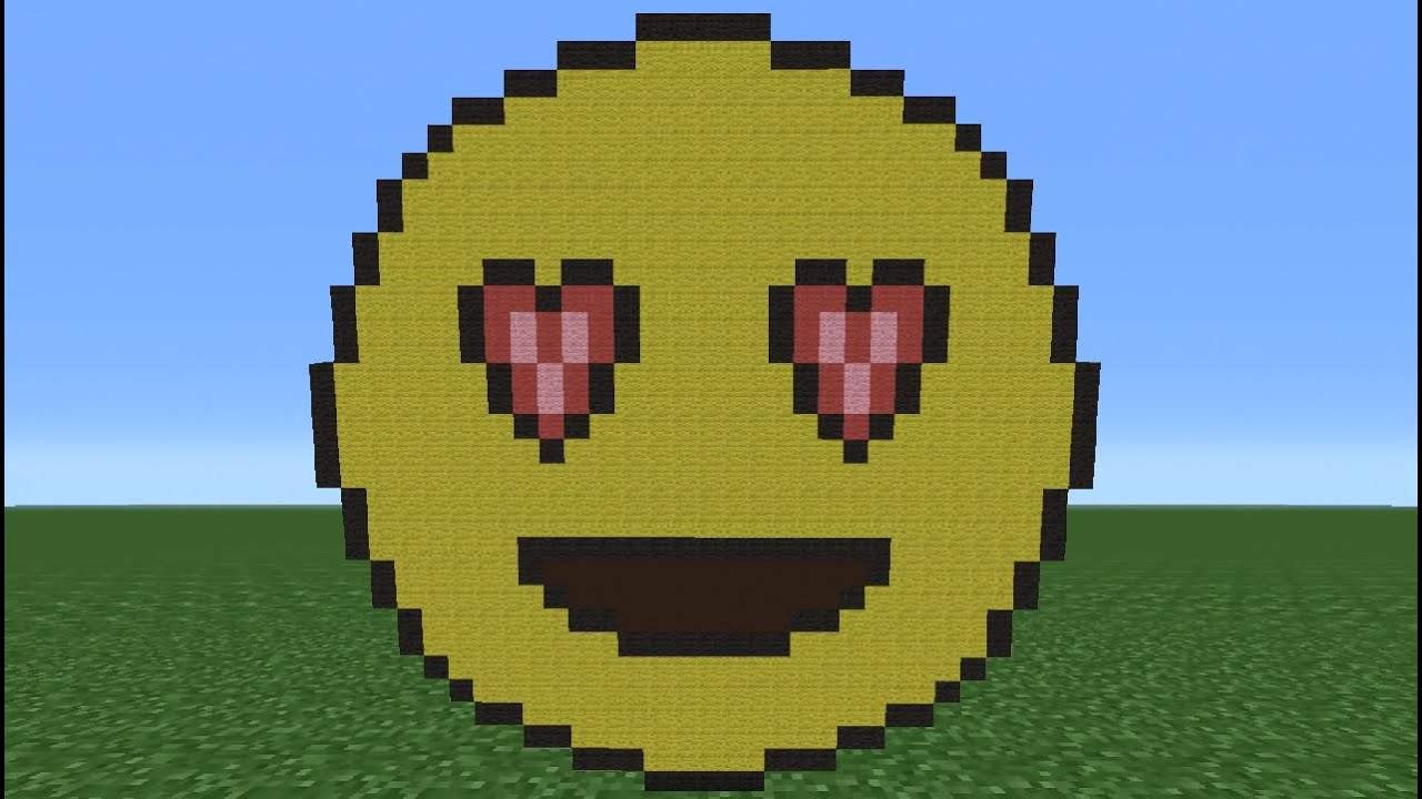 Lovely Minecraft Tutorial: How To Make A Heart Eyes Emoji   YouTube