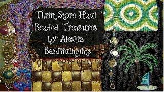 Thrift Store Haul Beaded Treasures