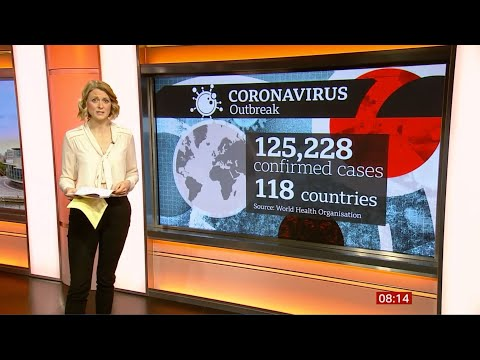 Coronavirus (Covid-19) markets tumble, closures & cancellations (Global) – BBC News 13th March 2020