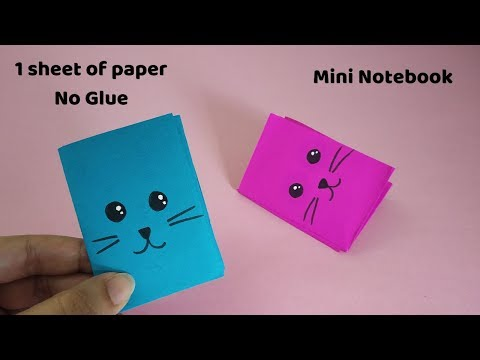 DIY MINI NOTEBOOKS USING ONE SHEET OF PAPER | NO GLUE REQUIRED | DIY BACK TO SCHOOL
