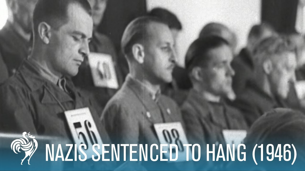 58 Nazis Sentenced To Hang: Dachau Trials (1946) | British Pathé