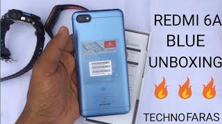 Redmi 6A blue colour unboxing||||||| 2018 with faceunlock