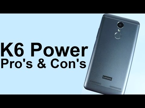 Lenovo K6 Power Pro's and Con's (Mini Review- Best small Form Factor Phone under 10000 Rs)