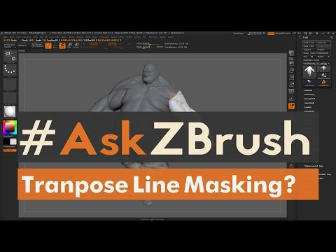 """#AskZBrush: """"How Can I Use The Move Transpose Line To Mask Parts Of My Model?"""""""