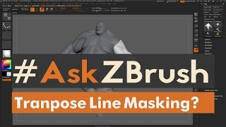 "#AskZBrush: ""How can I use the Move Transpose Line to Mask parts of my model?"""