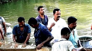 Fishing In The Lake With a Long Line Net Big Rohu Fish Catching With Big Net