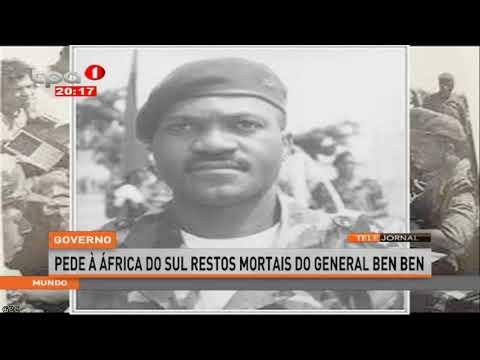 Governo angolano pede à África do Sul restos mortais do General Ben Ben