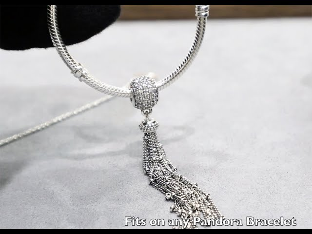 New Spring 2018 Pandora Necklace Bracelet Charm Enchanted Tassel St Silver 797018cz Youtube