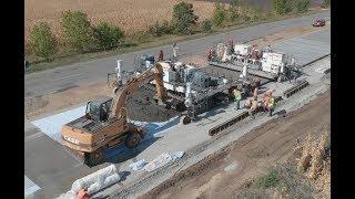 У Кобеляцькому районі будують бетонну дорогу