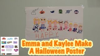 Emma and Kaylee Make A Halloween Poster