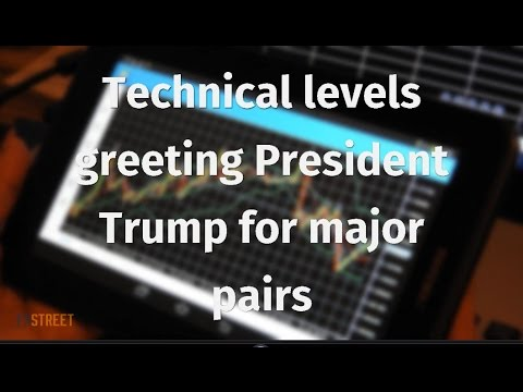 Technical levels greeting President Trump for major pairs