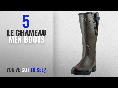Top 10 Le Chameau Men Boots [ Winter 2018 ]: Le Chameau Footwear Men's Vierzon Rain Boot, Vert