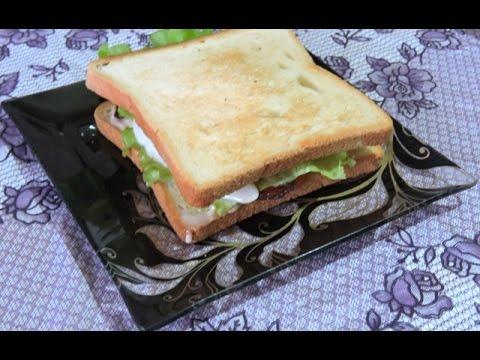 Рецепт очень вкусного сэндвича с беконом!