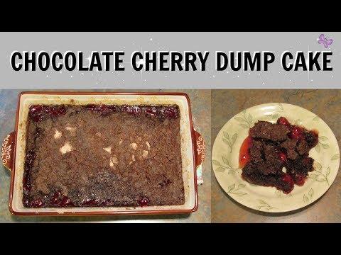 BLACK FOREST DUMP CAKE | Chocolate Cherry Dump Cake Recipe