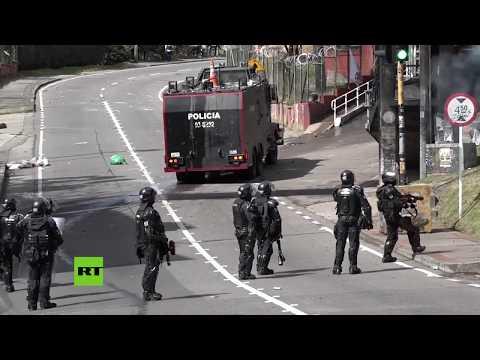 Colombia: Policías reprimen con tanquetas y gas pimienta en las protestas estudiantiles