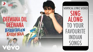 Deewana Dil Deewana - Kabhi Haan Kabhi Naa|Official Bollywood Lyrics|Udit|Amit Kumar
