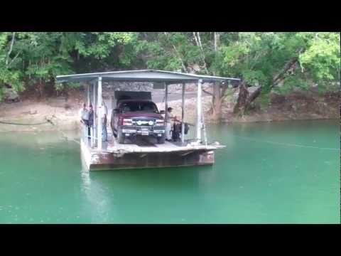 Hand-Cranked Ferry Across Mopan River to Xunantunich Mayan ruins Cayo, Belize