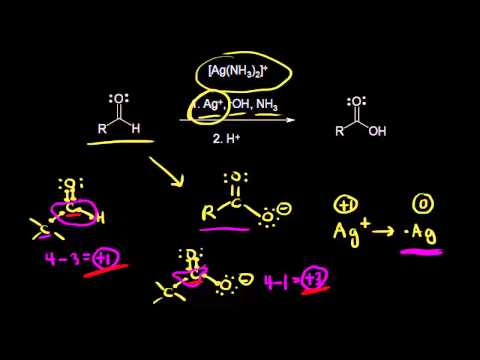 Oxidation Of Aldehydes Using Tollens' Reagent | Organic Chemistry | Khan Academy