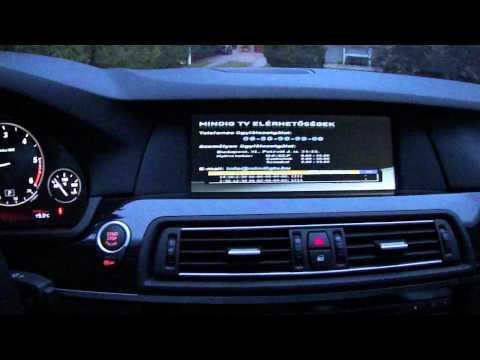 BMW F10 F11 F01 PIP video multimedia interface Mpeg4 TV Budapest  www.bmwtuning.hu