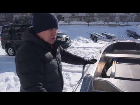 Алюминиевая моторная лодка Wyatboat 430 под румпельное управление