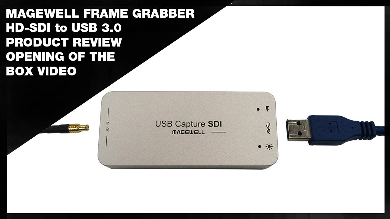 Magewell HD-SDI to USB Frame Grabber Review - YouTube