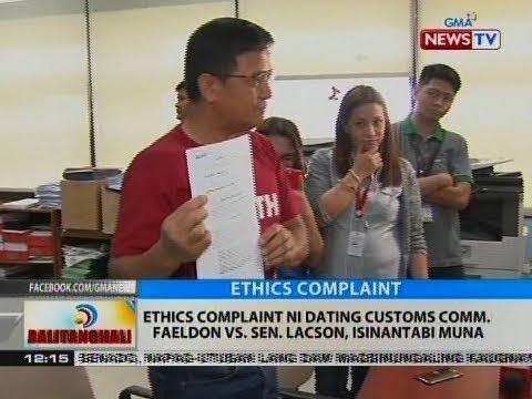 BT: Ethics complaint ni dating Customs Comm. Faeldon vs. Sen. Lacson, isinantabi muna