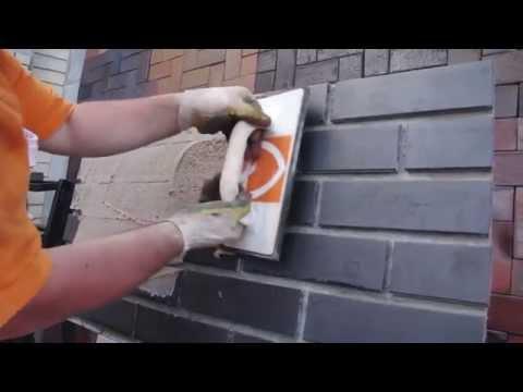 Затирка для клинкерной фасадной плитки RSS пластичная, нанесение строительным пистолетом
