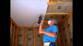 How I Hang Sheetrock ( Drywall ) on the Ceiling By Myself or Yourself DIY