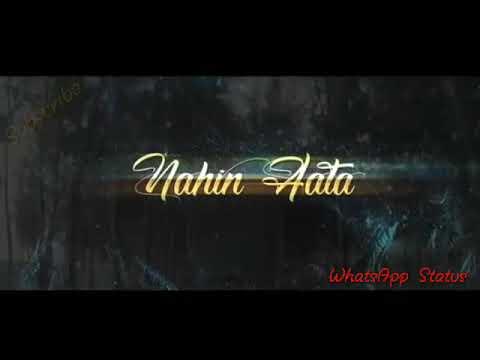 WHATSAPP STATUS | Chupana Bhi Nahi Aata | Stebin Ben | 25 years of Baazigar | Cover | Lyrics