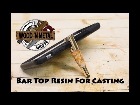 Using Bar top Resin to Cast a Blank