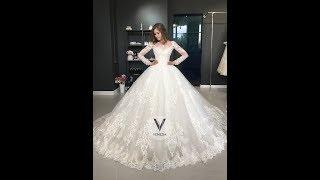 Свадебное платье Веспера с рукавами