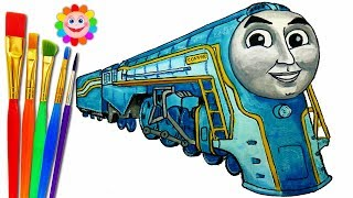 How to DRAW Train Thomas and Friends TRAINS Video for KIDS CONNOR Cautious ENGINE