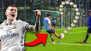 TONI KROOS Freistoß WM Fußball Challenge !
