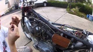 1966 Honda CB77 Restoration - 3. Carb Removal