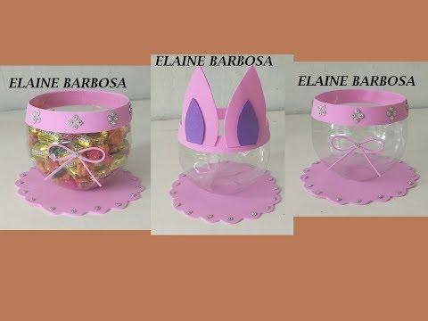 IDEIAS com GARRAFA PET E EVA para PÁSCOA,plastic bottle craft,ideias fáceis,lindas@artesanato😲