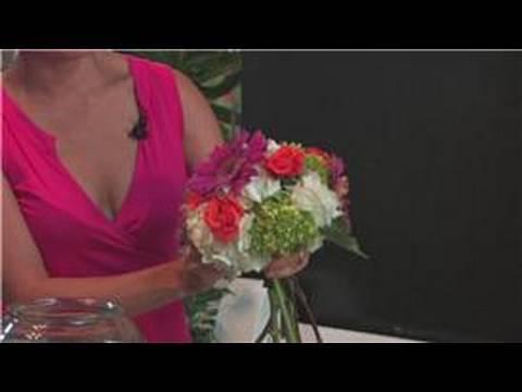 Wedding Floral Arrangements How To Make A Round Floral Arrangement