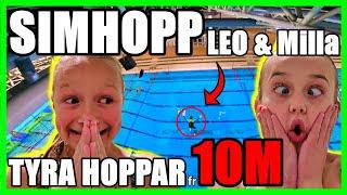SIMHOPP MED LEO MILLA & TYRA HOPPAR FRÅN 10M