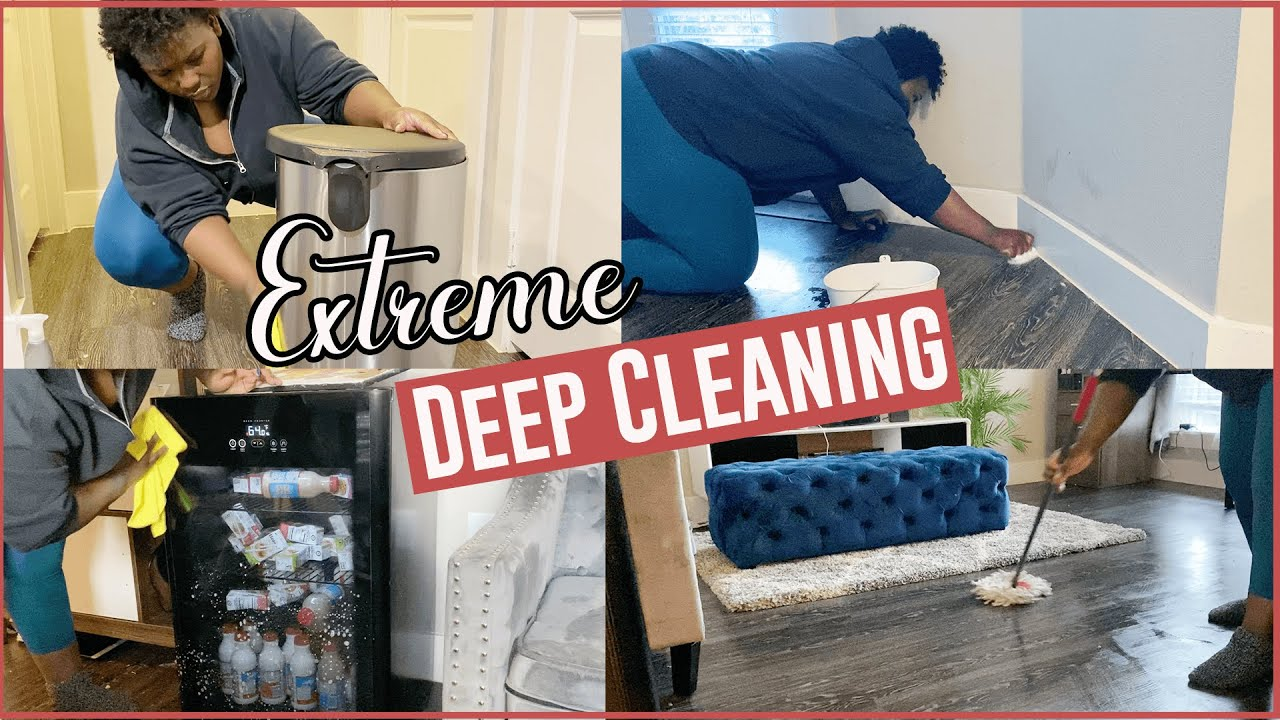 EXTREME DEEP CLEANING MOTIVATION | REAL MESS CLEAN WITH ME | COMPLETE DISASTER | NEWAIR FRIDGE