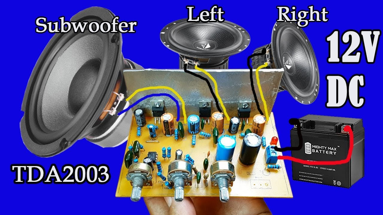 How To Make Amplifier Using Ic TDA2003 For Subwoofer-left