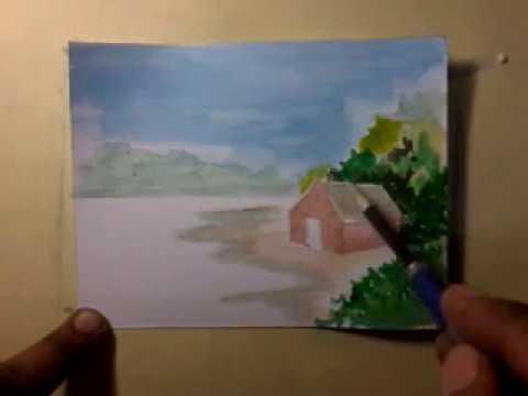 Landscape Painting Techniques for Watercolor n postercolor.