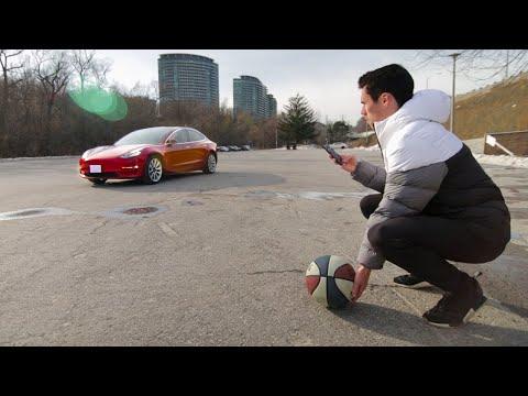 Tesla Smart Summon vs. Obstacles Test